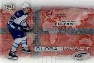 2015-16 Upper Deck Ice Global Impact Nikolaj Ehlers Rookie #GI-NE