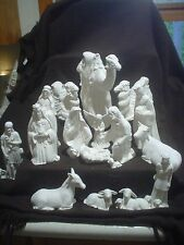 C644 - Ceramic Bisque 18 Piece Large Riverview Nativity Set - Ready to Paint