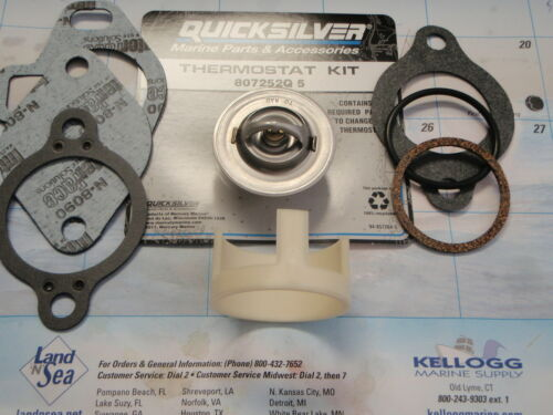 THERMOSTAT KIT MERCRUISER 807252Q5 1987 AND UP 160 DEGREE SLEEVE 23-806922