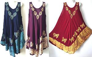 women-long-maxi-summer-beach-hawaiian-Boho-evening-party-sundress-dress-PLUS-24