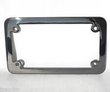 metal black ice chrome license plate frame motorcycle tag lic fastener fits harley davidson el