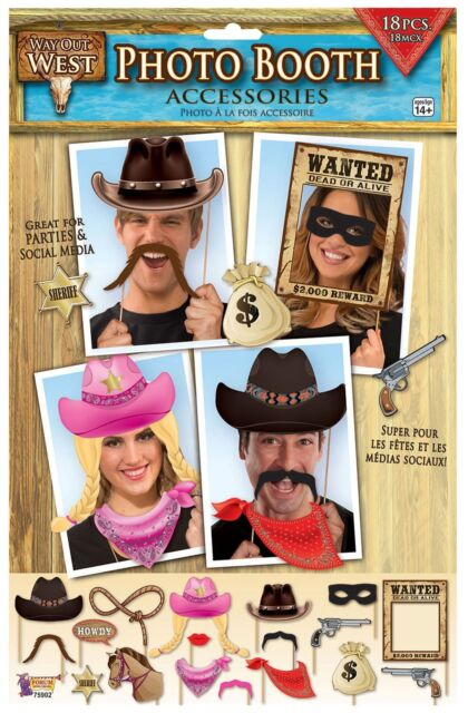 Way Out West- Photo Booth, Cowboy Party Prop/Room Decoration/Accessory #AU