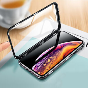 Magnetic-Metal-Tempered-360-Glass-Case-For-iphone-11-pro-X-XR-XS-Max-7-Plus
