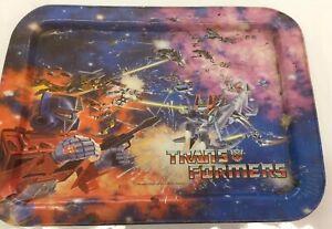 Hasbro-1984-Transformers-Optimus-Prime-Metal-Folding-TV-Dinner-Lap-rare