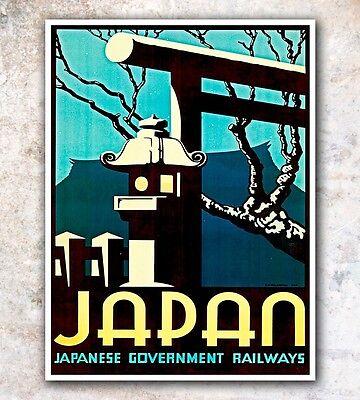 "Japanese Art Travel Poster Japan Wall Decor Print 12x16"" A54"