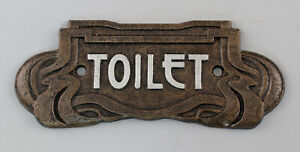 9973632-Cast-Metal-Door-Sign-Toilet-Toilet-Art-Nouveau-Rustic-19x7-5cm