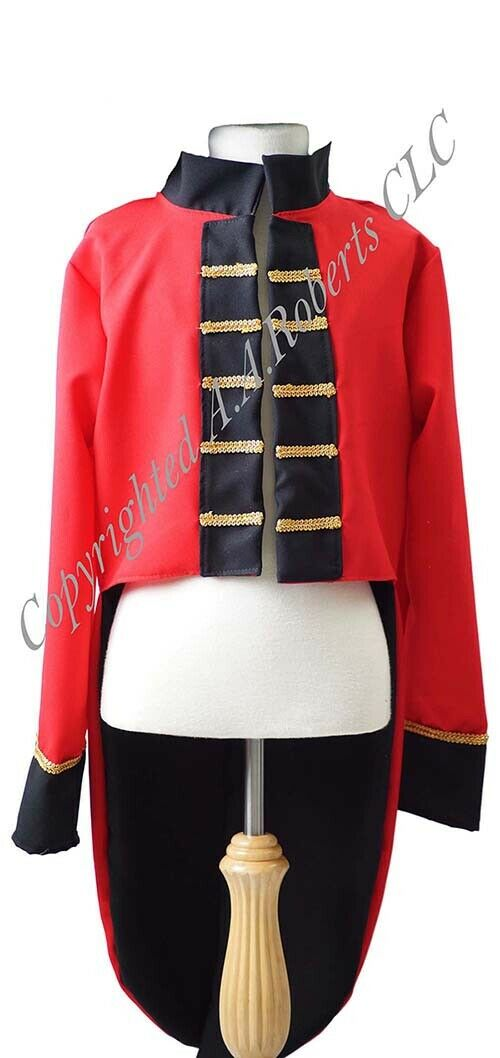 World Book Day THE GREATEST SHOWMAN RINGMASTER TAILCOAT Fancy Dress All Sizes