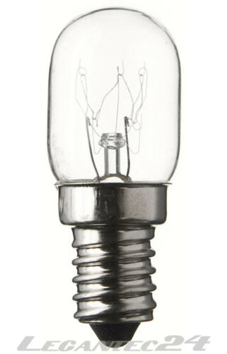 Glühlampe 220-230V 15W E14 T22x57mm klar Glühbirne Birne 220-230Volt 15Watt neu