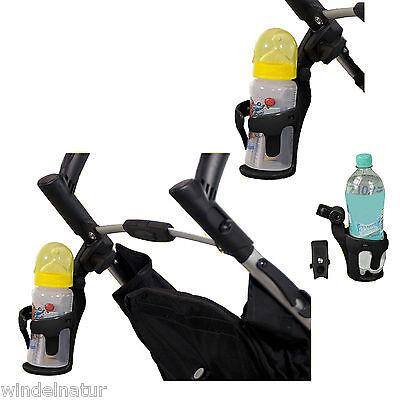 Flaschenhalter Getränkehalter Becherhalter Kinderwagen Buggy Baby Babyflasche