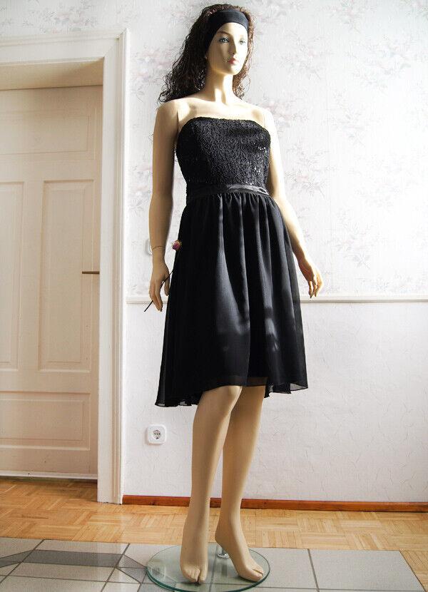 Festliches Kleid Coctailkleid Corsage Schwarz neu  Jessica Abschlussball GR.46