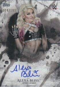 ALEXA-BLISS-2018-Topps-WWE-Undisputed-AUTOGRAPH-AUTO-Card-124-199