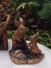 Miniature Dollhouse FAIRY GARDEN Accessories ~ Bunny Buddies Rabbits ~ NEW