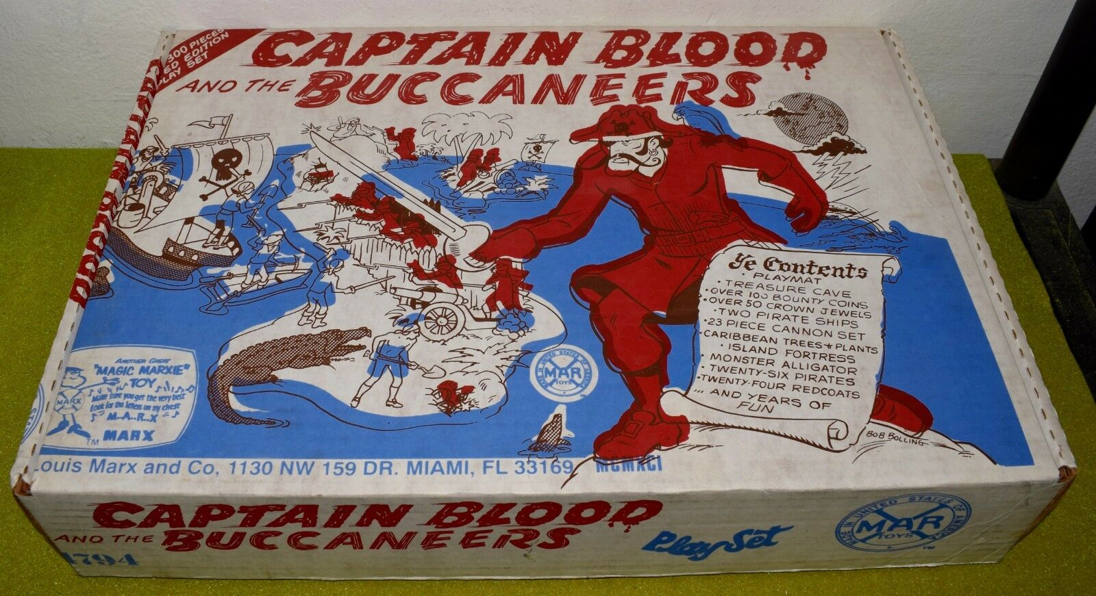 MARX REISSUE CAPTAIN BLOOD AND THE BUCCANEERS AS PICTURED