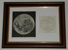 Print 100 years old Key & Map Photograph of the Moon (also available unframed)