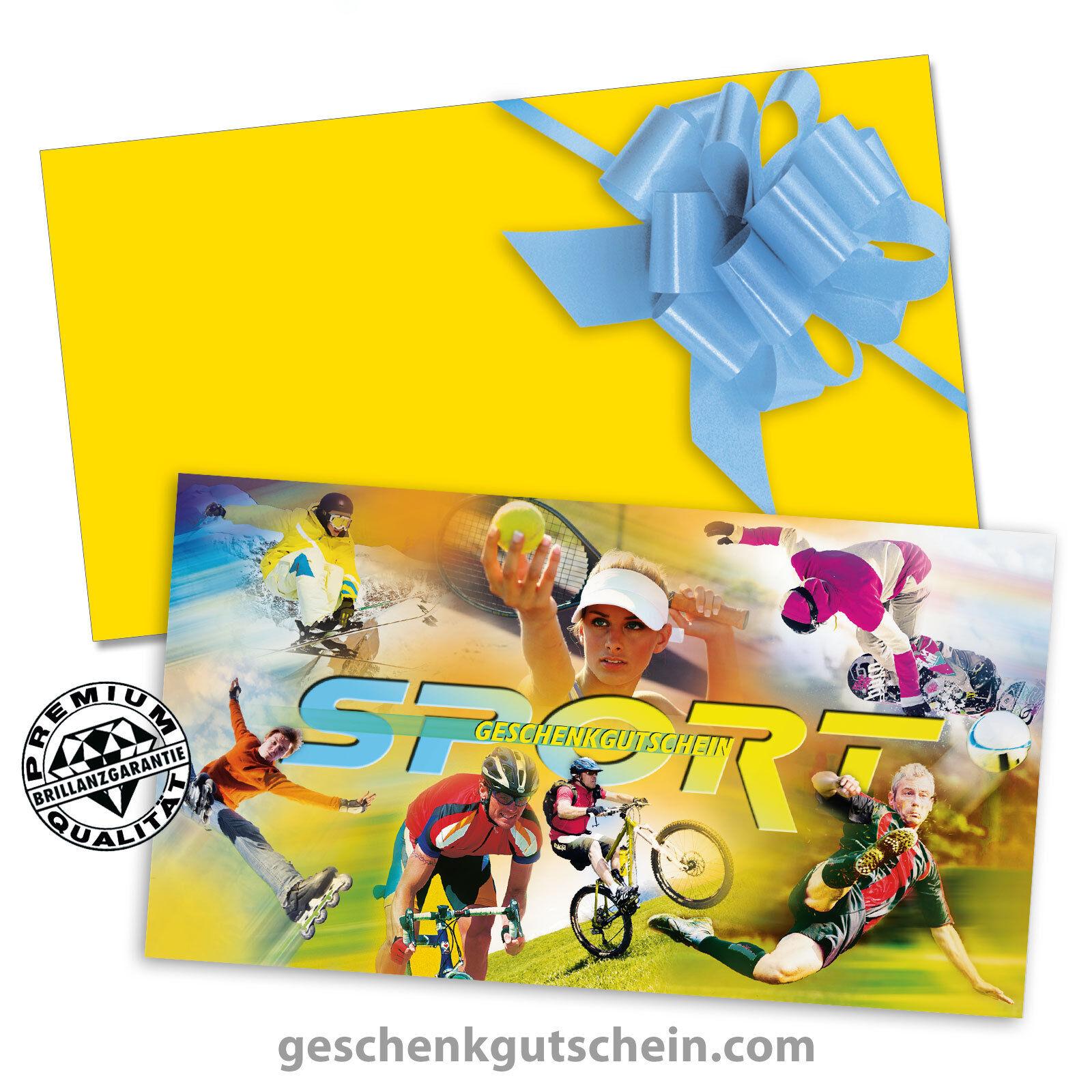 Gutscheinkarten mit KuGrüns und Schleifen für den Sportfachhandel SP1228