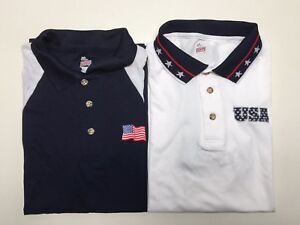 Patriotic-Men-039-s-Stars-amp-Stripes-Golf-Performance-Polo-Shirt-Made-in-America-NWT