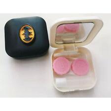 Portable Travel Batman Contact Lens Case Kits Container Storage Box w/ Mirror