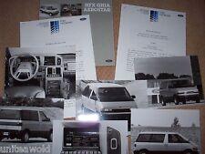 Ford Aerostar HFX Ghia '87 Motor Show Press Pack CAR BROCHURE Catalogue Prospekt