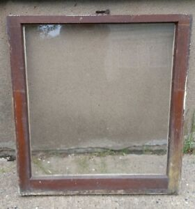 Details About Vintage Wood Window Frame Lower Sash Single Pane Glass 2825 W In 30125 H In