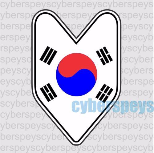 Korea Flag JDM Design Car Vinyl Decals//Stickers