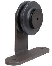 Dark Coffee Sliding Barn Wooden Door Hardware Rustic Steel Roller Replacement