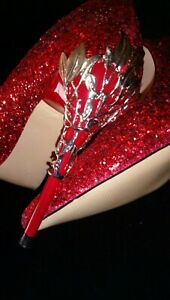 BIGTREE-Thin-High-Heels-Shoes-Pointed-Red-Glitter-Shoes-Metal-Flower-Stiletto-5