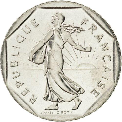 #27642 FRANCE, Semeuse, 2 Francs, 1990, KM #942.1, MS6570, Nickel, 26.5