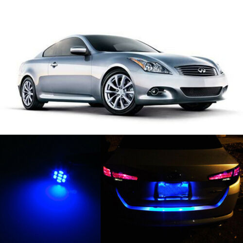 Blue LED License Plate Lights For Infiniti G37 2008-2013 2010 2011 2012 2013