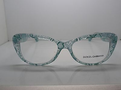 f0c070fa78eb NEW Dolce   Gabbana D G DG 3166 2729 Clear Blue Lace 53mm Eyeglasses