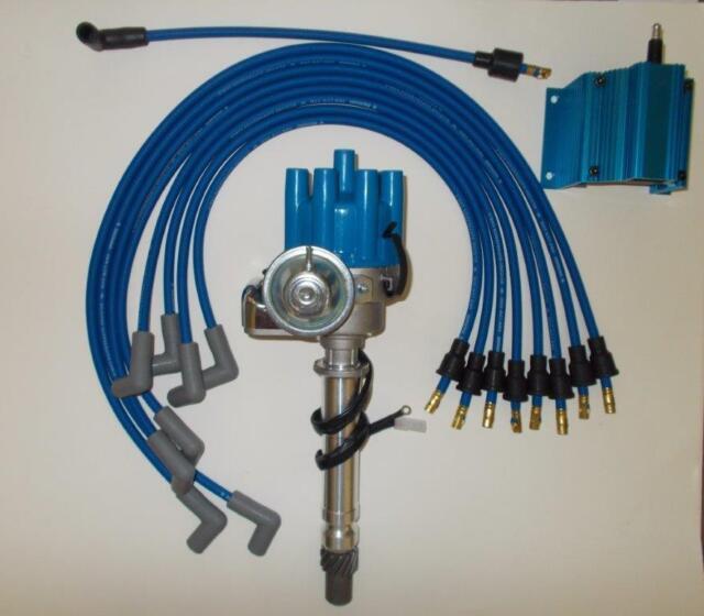 SBC CHEVY 350 BLUE FEMALE Small HEI Distributor,Coil,PLUG ...