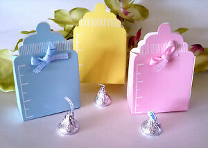 Captivating 10 Baby Shower Candy Favor Boxes Yellow Blue