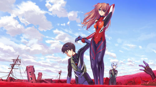 Poster 42x24 cm Evangelion Asuka Shinji Sleeve Anime Poster