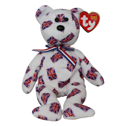Bear UK Country Exclusive 2003 Ty Beanie Baby Jack black nose MWMT