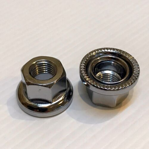 9mm Track Nuts with Integrated Washers —AUS STOCK— Bike Bicycle Axle Chrome 2pc