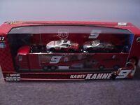 Winner's Circle Kasey Kahne 9 1:64 Stock Cars Hauler Tin Set Nascar