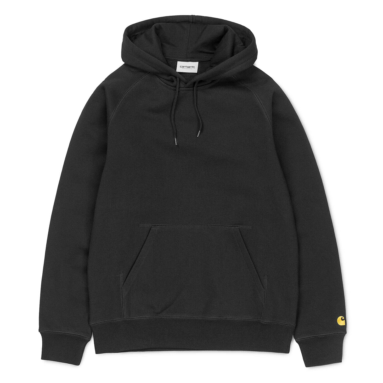 Carhartt Felpe W  Hooded Chase Sweat nero     oro Nero 92c42a