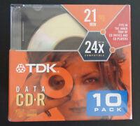 Tdk Data Cd-r Disc 10 Pack 21 Min Cd-rw Digital Cameras Mp3 Computer Writers
