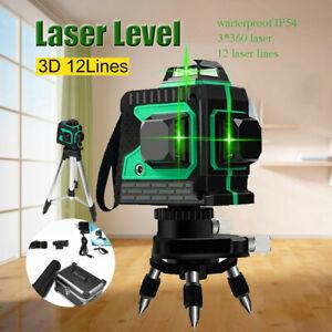 3-360-Laser-Self-level-3D-12-line-green-light-Horizontal-And-Vertical-Cross