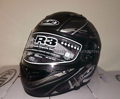 HJC CS-R3 Songtan Motorcycle Helmet Satin Gray Camo w// Hi-VIZ XL Extra Large