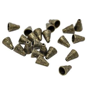 60-Bronze-Tone-Bead-Caps-Fit-Chain-Tassel-11x9mm-C9G1-J4W1