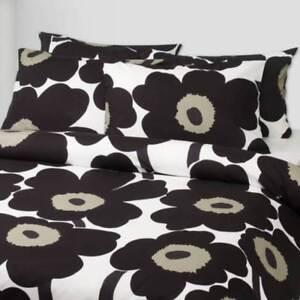 Rare Black Tan Marimekko Unikko Cotton