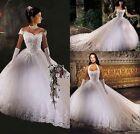 Más estilo del vestido de boda blanco/de marfil de dama honor 34 36 38 40 42 44