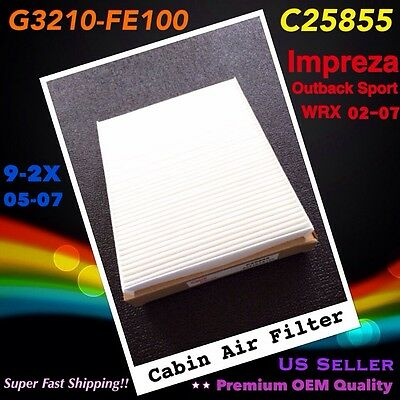 For Impreza Outback Sport WRX 02-07 / 9-2X 05-07 CABIN AIR FILTER C25855