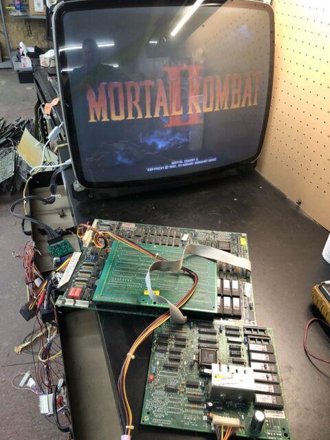 MORTAL KOMBAT 2 PCB JAMMA ARCADE BOARD SET ORIGINAL V 1.4 WORKING!!!!! COMPLETE