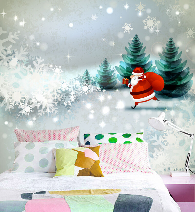 3D Merry Christmas 363 Wall Paper Decal Wall Deco Indoor wall Murals