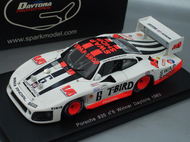 Garantía 100% de ajuste 1 43 Spark Porsche Porsche Porsche 935  6 Ganador Daytona 1983  barato