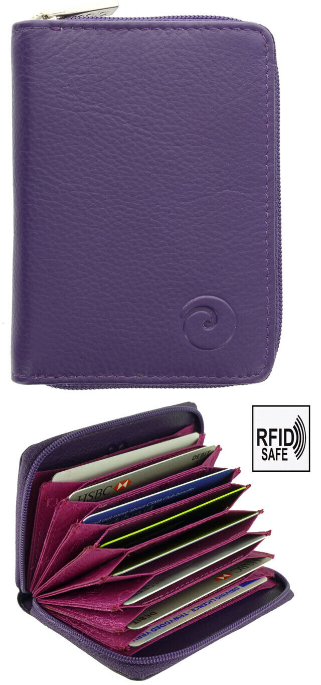 ***SALE*** Real Leather Concertina Fan Card Holder RFID - Mala Boxed