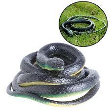 130Cm Real Rubber Toy Fake Snake Safari Garden Prop Joke Prank Halloween Gift