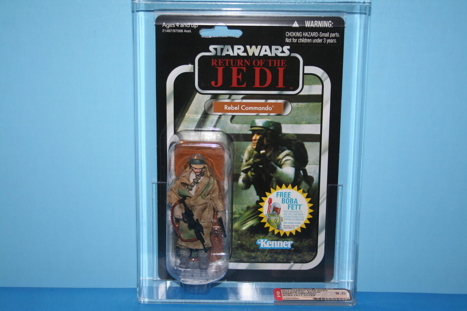 STAR WARS 10 VINTAGE COLLECTION AFA GRADED MINT ON CARD REBEL COMMAND 9.0 FIGURE