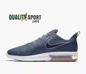 76810c4f92 Nike Air Max Sequent 4 Blu Scarpe Shoes Uomo Sportive Sneakers ...